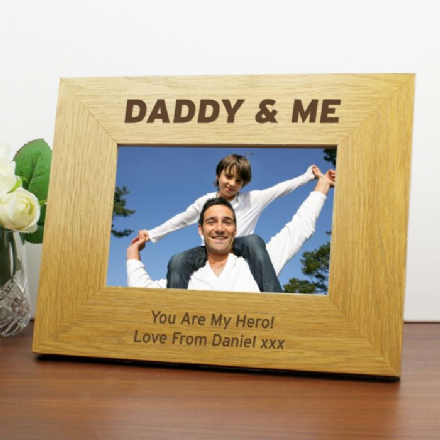 Personalised 6x4 Daddy & Me Photo Frame